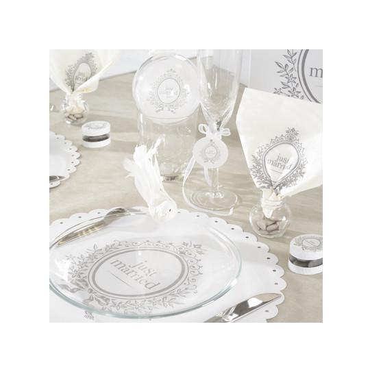Serviette de table mariage - Serviette de table blanche ...
