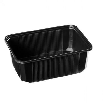 Barquette plastique micro-ondable noire