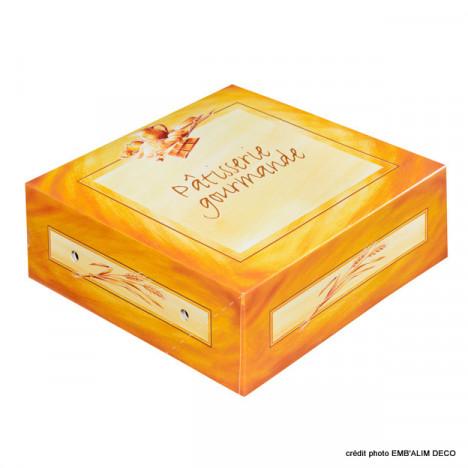 Boîte pâtissière décor Pâtisserie Gourmande 300x300x100mm