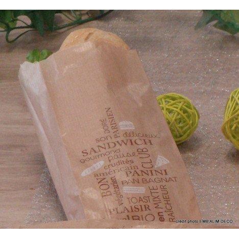 Sac sandwich kraft brun petit modèle