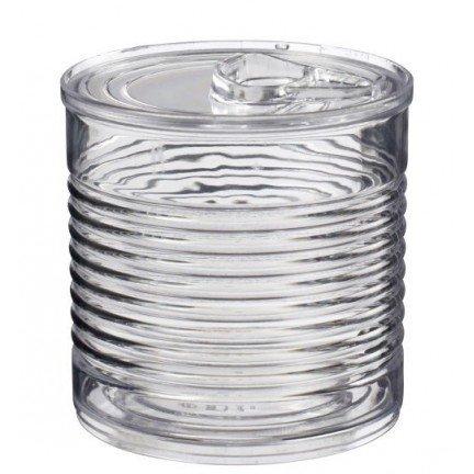 Verrine boîte de conserve transparente