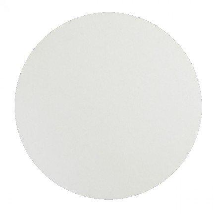 Rond blanc lisse