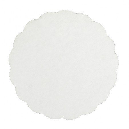 Rond blanc festonné