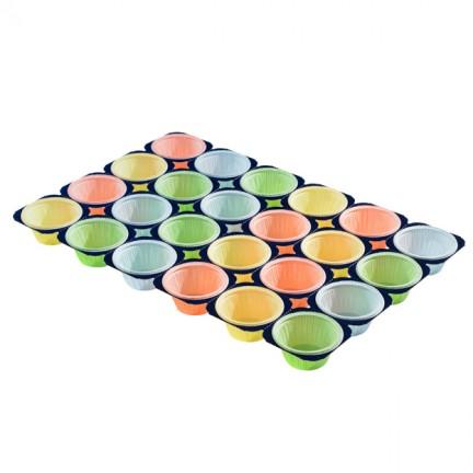 Plaque pour muffins en couleur