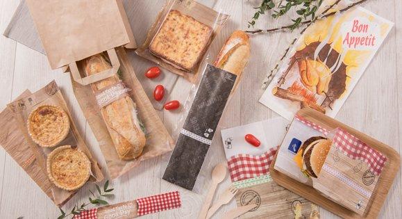 Emballage snacking avec étuis ingraissable pour sandwich