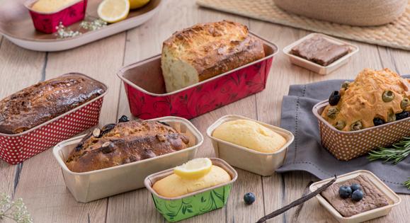 Moule rectangle en papier pour pain d'épices, cakes et brioches