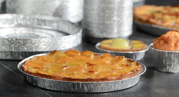 Moule aluminium rond pour des tartes ou des quiches
