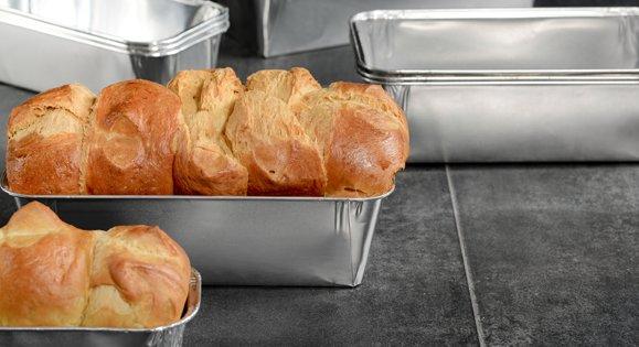Moule rectangulaire aluminium pour brioches ou pains d'épices