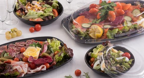 Plateau plastique PET idéal pour buffets ou brunchs