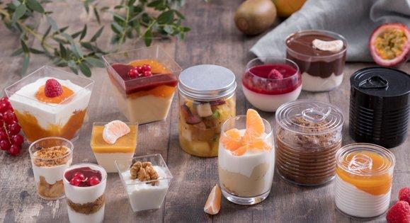 Achat verrine en plastique ou en verre pour entrées ou desserts