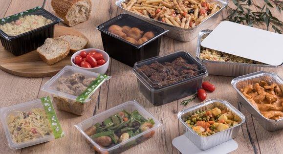 Barquette alimentaire avec couvercle pour traiteurs et restaurateurs